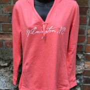 Ladies V-Neck Coral Hoody