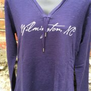 Ladies V-neck Navy Hoody